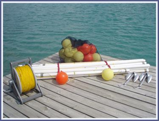 Model #P101 - 6 buoy course <i>package</i> with poly rope mainline